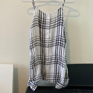 NEW Hollister Plaid Shoulder Cut Out Top (Small)